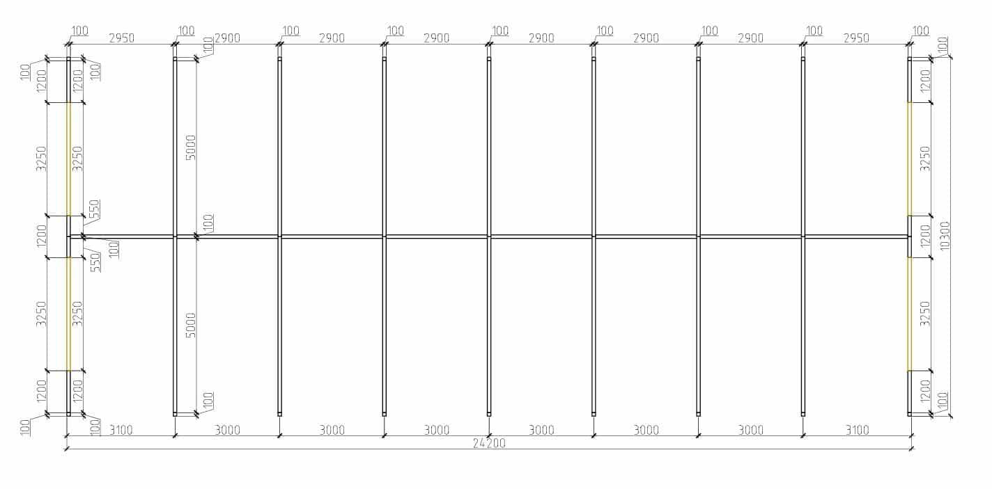 План торговых павильонов ЛСТК